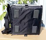 Каркасна термосумка - рюкзак для кур'єрської доставки страв та піци. 33*33, висота 42, фото 4