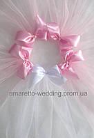Фата для девичника (цвет розовый)