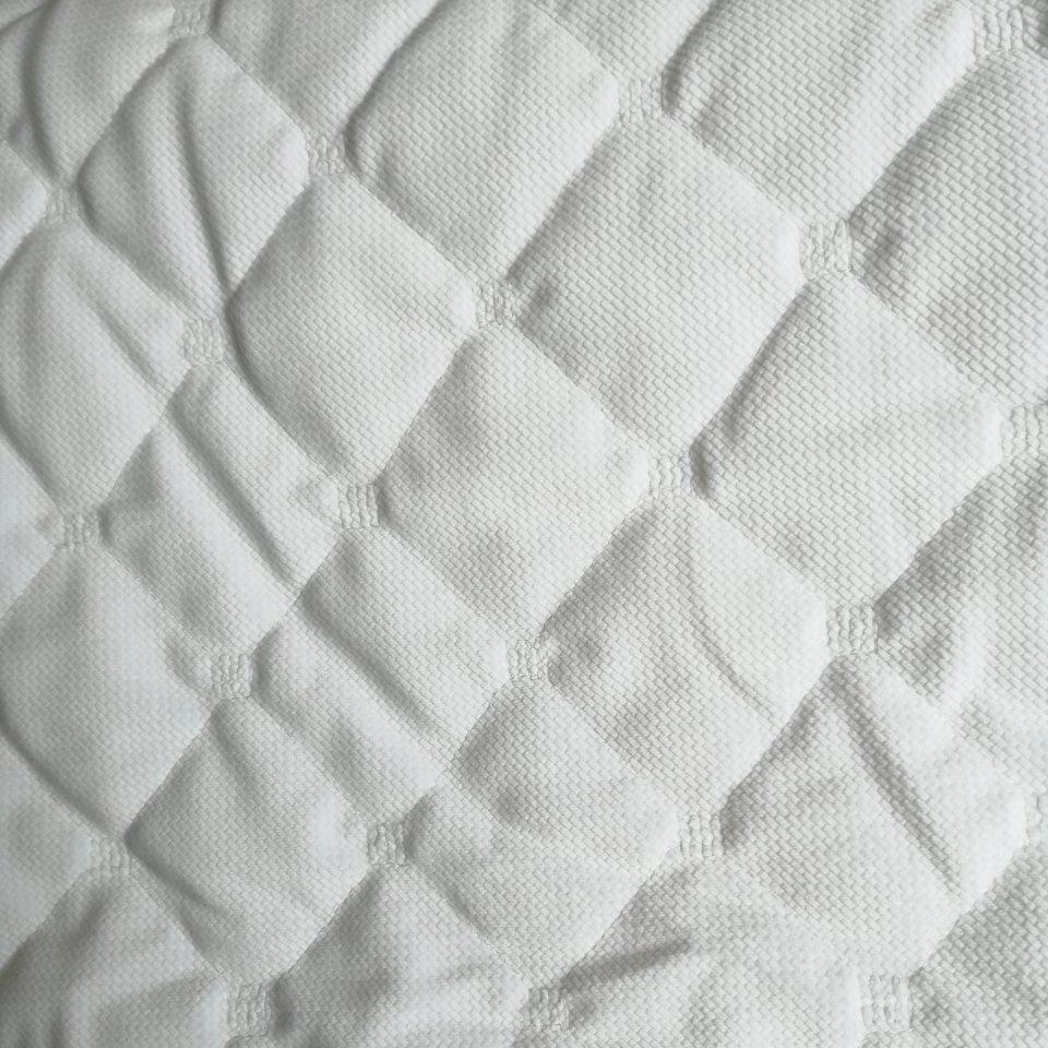Плюш стеганый белый вельвет с синтапоном плотность 380 г/м2.