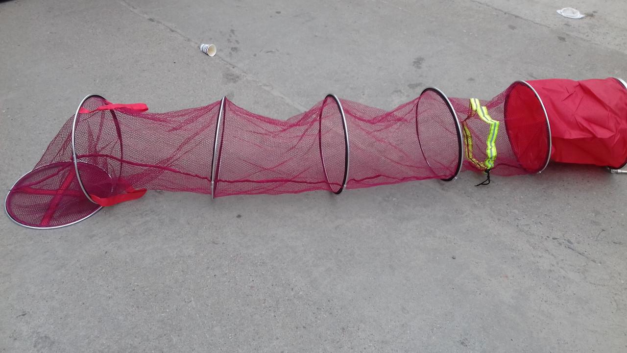 Садок рыболовный  3 м , d=0.45 м,  латексное покрытие сетки ,добротный садок для хорошего улова