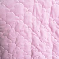 Плюш стеганый вельвет розовые облака с синтапоном плотность 380 г/м2., фото 1