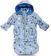 Детский демисезонный костюм-тройка (конверт+курточка+полукомбинезон) голубой с пчелкой, фото 3