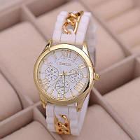Часы наручные Geneva цвет белый с цепочкой