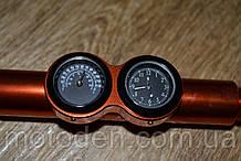 Распорка руля с часами и термометром оранжевая