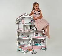 Большой домик для кукол Лол с мебелью Особняк ( 9 шт, 4 этажа )