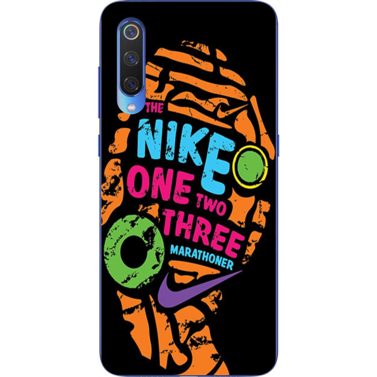 Чехол с картинкой силиконовый для Xiaomi Mi 9 SE Nike 1,2,3