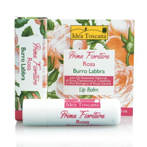 Натуральная защитная помада с розой 5,5 мл - Idea Toscana