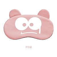 "Маска для сна ""Zluka Pink"". Повязка для сна. Маска на глаза для сна. Маска для сну"