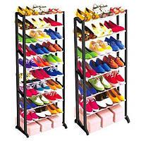 Полка,стойка для обуви  сборная на 30 пар Amazing shoe rack-функциональный органайзер