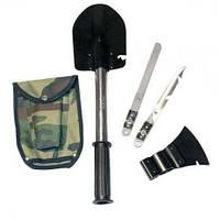 Универсальная туристическая лопата 5 в 1 Military в чехле набор туриста