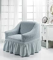Чехол на кресло с юбкой Серый Home Collection Evibu Турция 50093