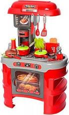 Дитяча ігрова Кухня 008-908A червона (світло, звук - кавоварка, тостер, посуд, продукти) - 69-45,5-26 см, фото 3