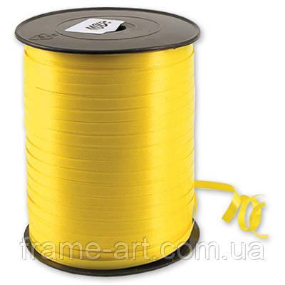 Лента бумажная металлик 0,5см белая с золотой полоской