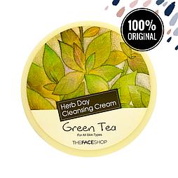 Крем для снятия макияжа с экстрактом зеленого чая THE FACE SHOP Herb Day Cleansing Cream Green Tea, 150 мл