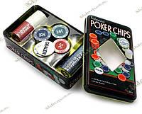 Покерні фішки (100 фішок, 20х12,5х5 см)