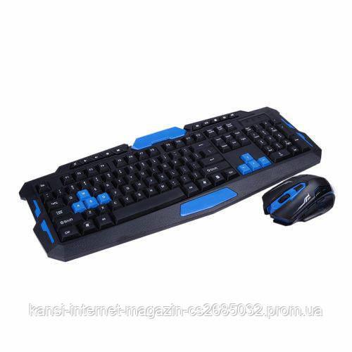 Беспроводная игровая компьютерная клавиатура и мышь KEYBOARD HK-8100