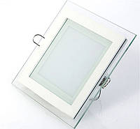 Светодиодный светильник встраиваемый 6 Вт Glass Rim-06 квадратный