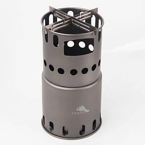 Туристическая титановая щепочница TOAKS STV-11 с перегородками. Титанова щепочниця Titanium