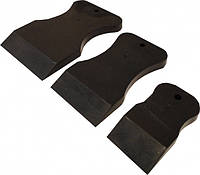 Набор резиновых шпателей черный мягкий VTP 1870 3шт