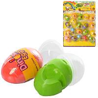 Маса для ліплення MK 3331 яйце. 20 шт. (7 кольорів) лист.