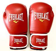 Перчатки боксерские EVL 10 унций красные PVS