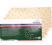 Лента липкая НАСТЕННАЯ односторонняя для ловли насекомых 34см*60см (уп /4шт), FARMA (Нидерланды)