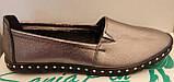 Балетки женские на плоской подошве из натуральной кожи от производителя модель ЛИН121, фото 4