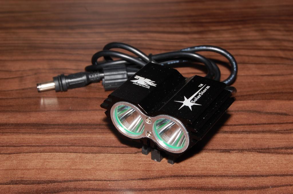 """Велофара """"сова"""" SolarStorm X2 8,4V"""