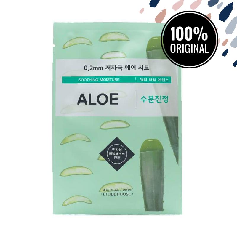 Ультратонкая маска для лица с соком алоэ ETUDE HOUSE 0.2 Therapy Air Mask Aloe