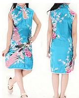 Платье кимано для девочки Павлин .