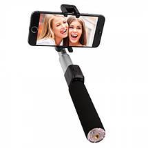 Селфи палка беспроводной монопод Remax Selfie Stick RP-P4 для смартфонов (Черная), фото 2