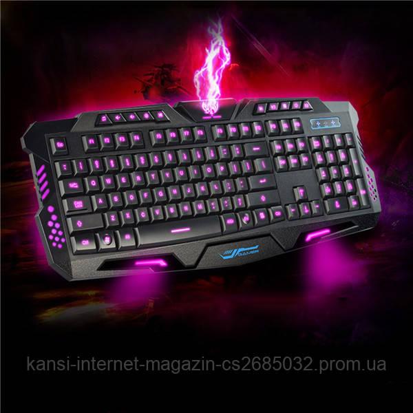 Профессиональная игровая радио клавиатура с подсветкой М200, led клавиатура