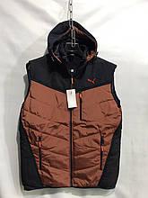 Жилетка мужская демисезонная модная стильная PUMA размер 48-56, купить оптом со склада 7км Одесса