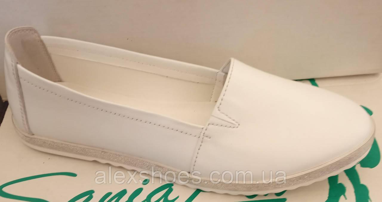 Балетки женские на плоской подошве из натуральной кожи от производителя модель ЛИН115Б