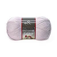 Пряжа Nako Estiva 3079 серовато-розовый (Нако Эстива)