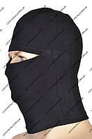 Балаклава маска черная летняя 100% хлопок