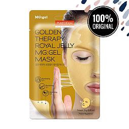 Гидрогелевая маска для лица с золотом PUREDERM Golden Therapy Royal Jelly MG:Gel Mask