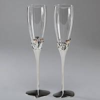 """Хит! Свадебные бокалы для молодоженов на Металлической ножке """"LOVE"""" №563/105"""