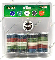 Покерные фишки в блистере (100 фишек, 19х20х4 см)