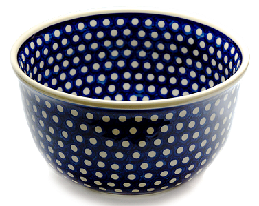 Большая глубокая керамическая миска / салатник 27 Polka Dot Classic