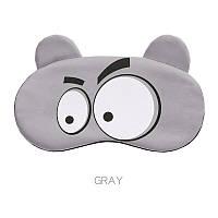 """Маска для сна и отдыха с ушками """"Mood Gray"""". Маска для сна и релакса"""