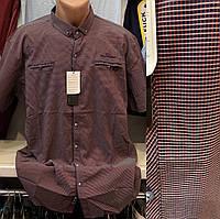 Мужские качественные хлопковые турецкие рубашки сорочки с карманами больших размеров , фото 1