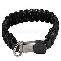 Ошейник для собак Sprenger с защелкой, паракорд, черный, 50 см, 59340_050_71