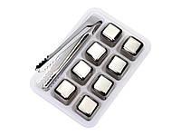 Охладительные кубики для виски Leeseph из нержавеющей стали 8 шт. с пинцетом