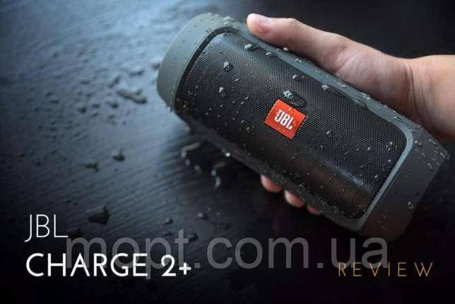 Портативная колонка JBL Charge 2 Black  черная Блютуз Встроенный повербанк акустика  + ПОДАРОК