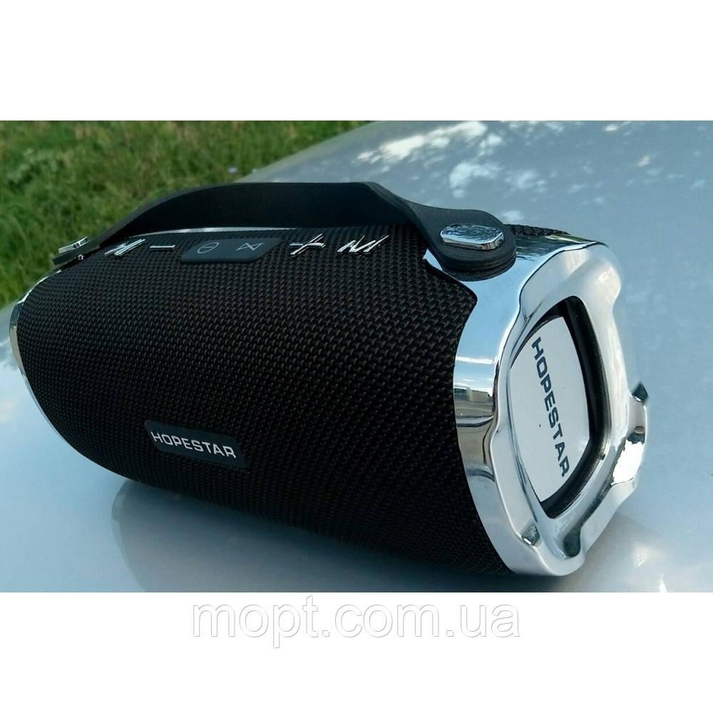 Портативная переносная колонка Hopestar H24 Bluetooth Встроенный Повербанк Радио ФМ  акустика + ПОДАРОК