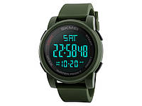 Водонепроницаемые часы Skmei 1257 с LED подсветкой  Зеленый