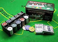 Покерный набор (2 колоды карт +200 фишек, 24,5х12х11,5 см)