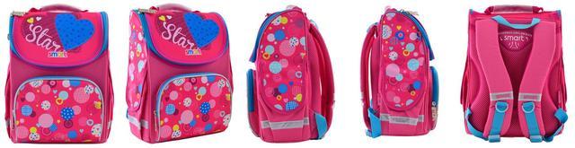 Фото Ортопедический школьный рюкзак розового цвета