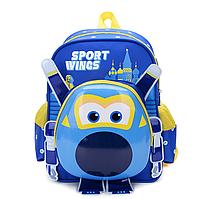 Рюкзак детский 3D Super Wings 32см * 11см * 25см, синий, 3-9 лет.